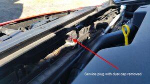 Mazda 3 Service Plug Alt